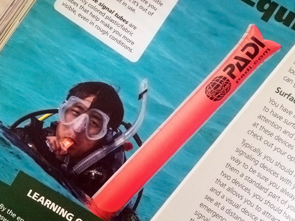PADI OW manual and DVD