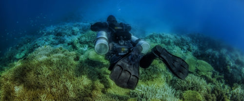 Diver on sidemount